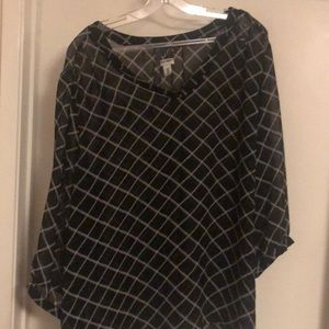 Black long sleeve top- size XXL